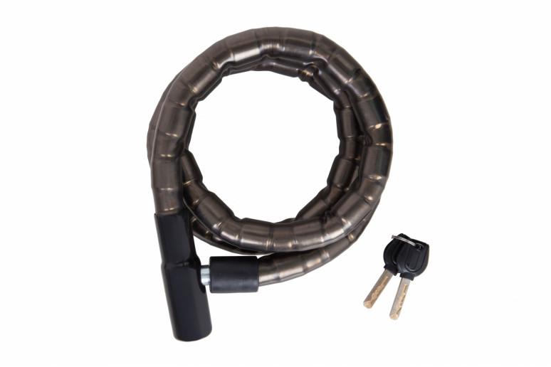 Замок TY206 на ключе в силиконе со стальным тросом 22mmX1500mm