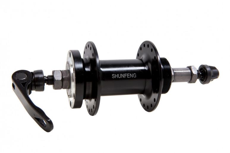 Втулка задняя AL 36H под диск. SHUNFENG SF-A210R черн. с эксцентр. под трещетку