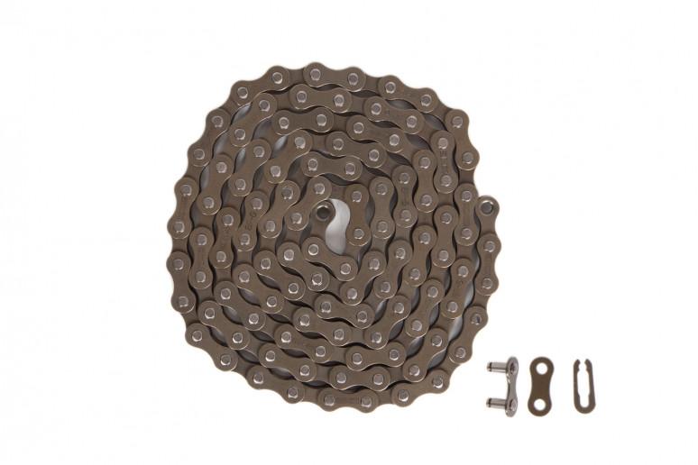 Цепь 1ск. 110зв. brown/brown КМС S1 с замком
