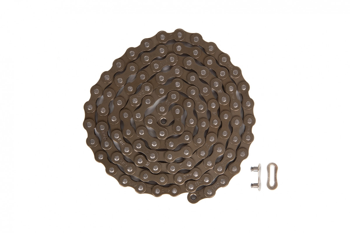 Фото Цепь 1ск. 112зв. brown/brown КМС Z1 с замком с официального сайта OSKAR™
