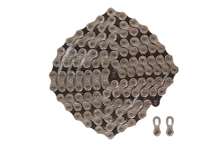 Цепь 10ск. 116зв. silver/black КМС X10 с замком