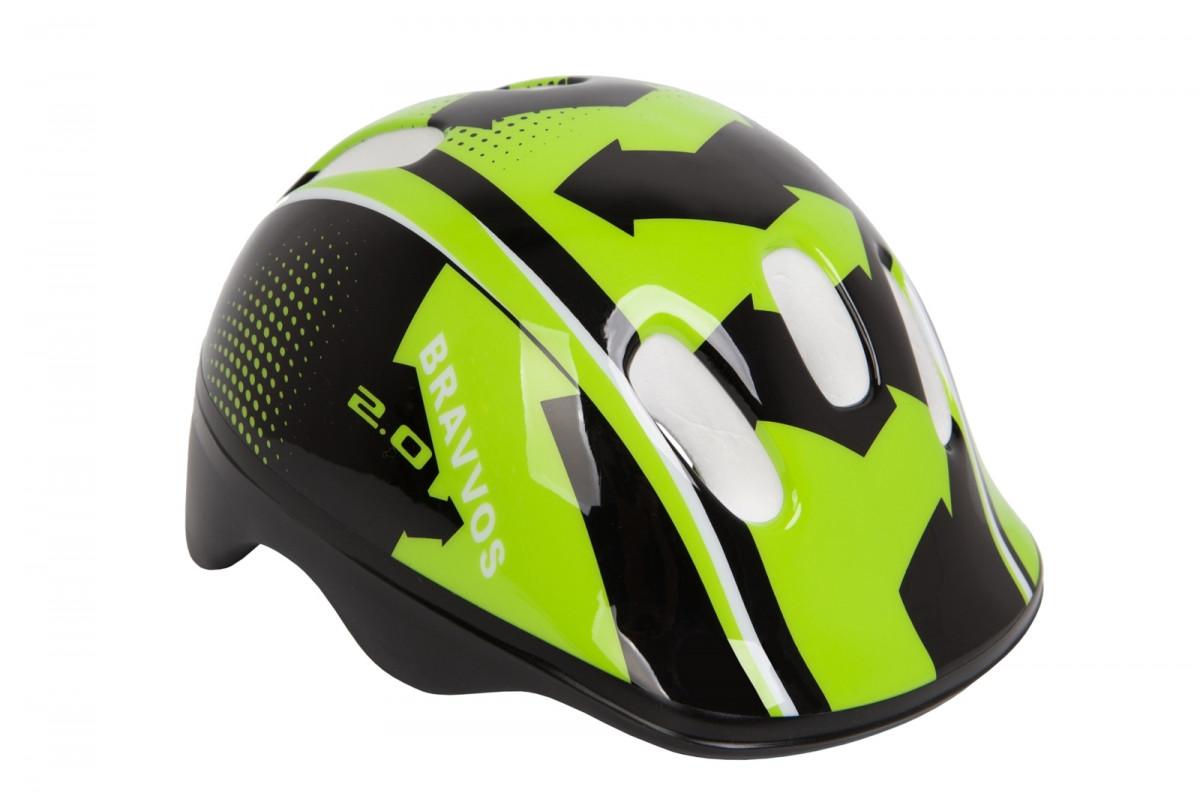 Фото Шлем велосипедный HEL096 черно-салатный (черно-салатный) с официального сайта OSKAR™