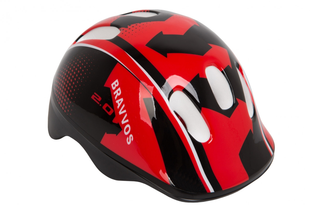 Фото Шлем велосипедный HEL100 черно-красный (черно-красный) с официального сайта OSKAR™