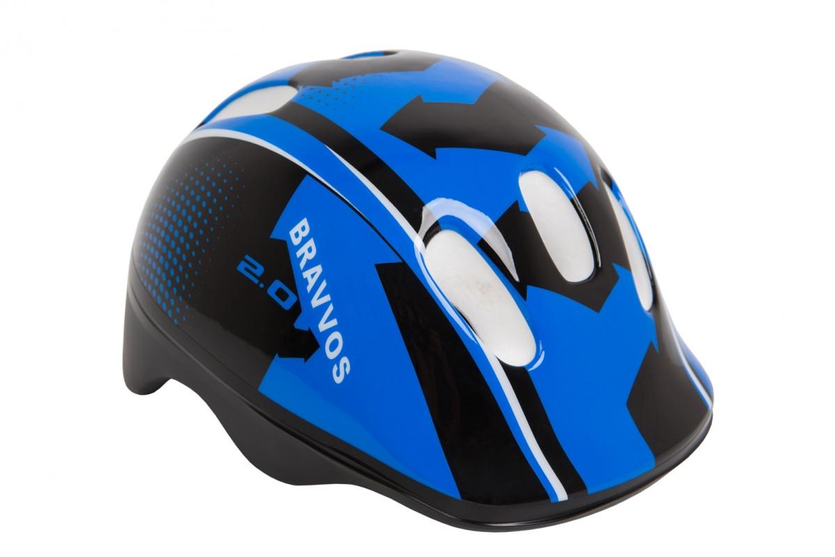 Фото Шлем велосипедный HEL102 черно-синий (черно-синий) с официального сайта OSKAR™
