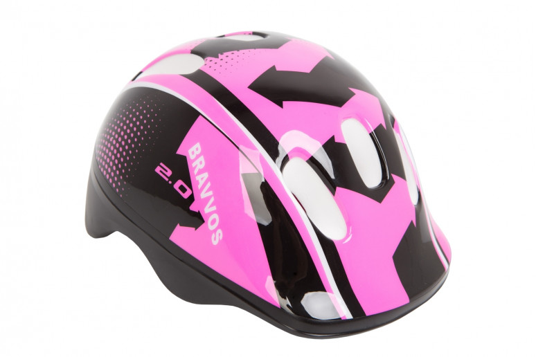 Шлем велосипедный HEL104 черно-розовый (черно-розовый)