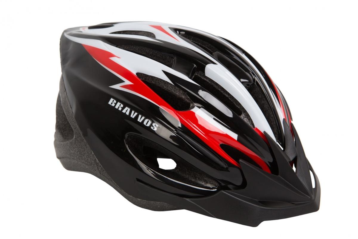 Фото Шлем велосипедный HE 127 черно-бело-красный (М) с официального сайта OSKAR™