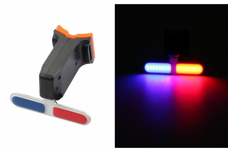 Фонарь габаритный задний (Police) BC-TL5454 LED, USB, (красно-синий)