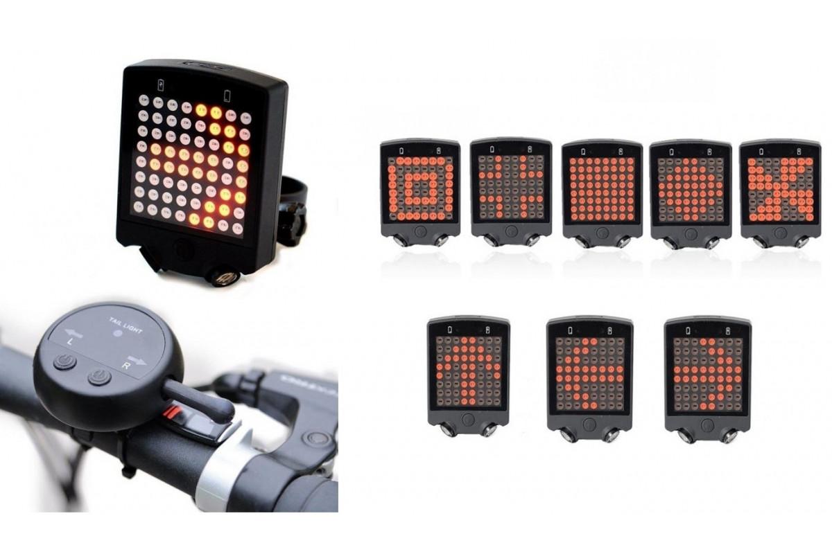 Фото Фонарь габаритный задний BC-TL5470 LED, USB с пультом управления wireless (красный) с официального сайта OSKAR™