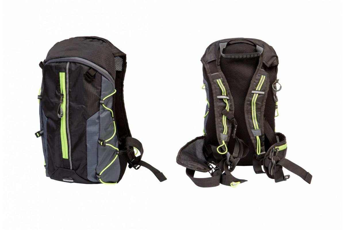 Фото Рюкзак QIJIAN BAGS B-300 44х26х9cm черно-серо-зеленый с официального сайта OSKAR™