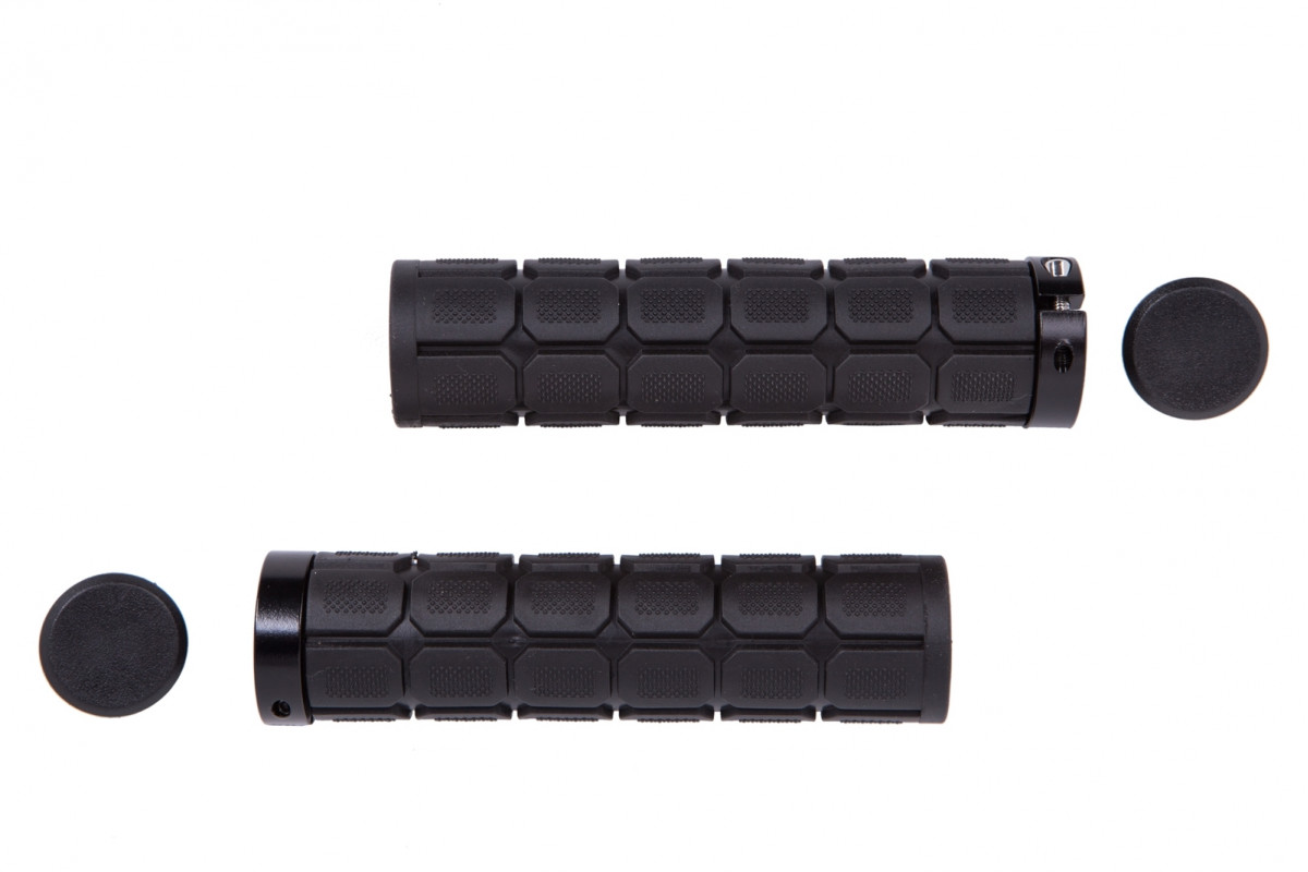 Фото Грипсы PVC L130mm с Al черным замком черный HL-G219 с официального сайта OSKAR™