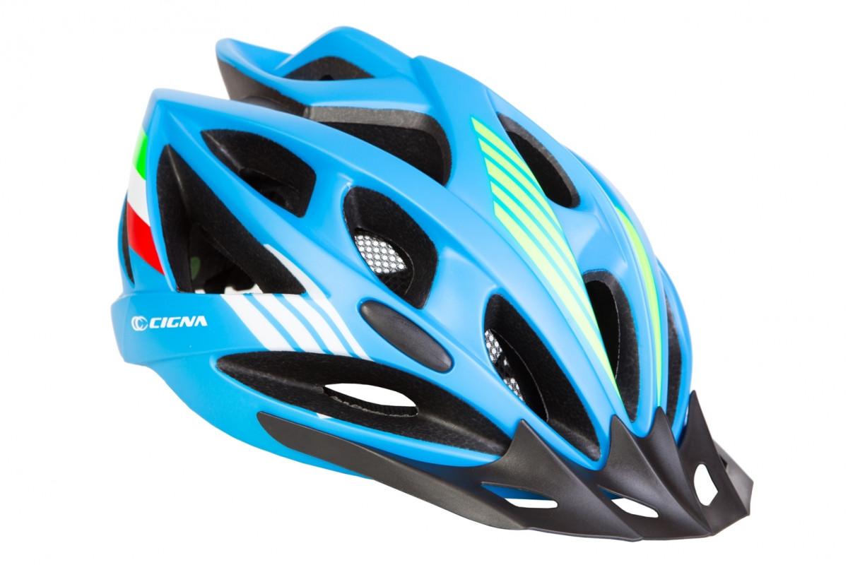 Фото Шлем велосипедный с козырьком СIGNA WT-036 синий (синий) с официального сайта OSKAR™