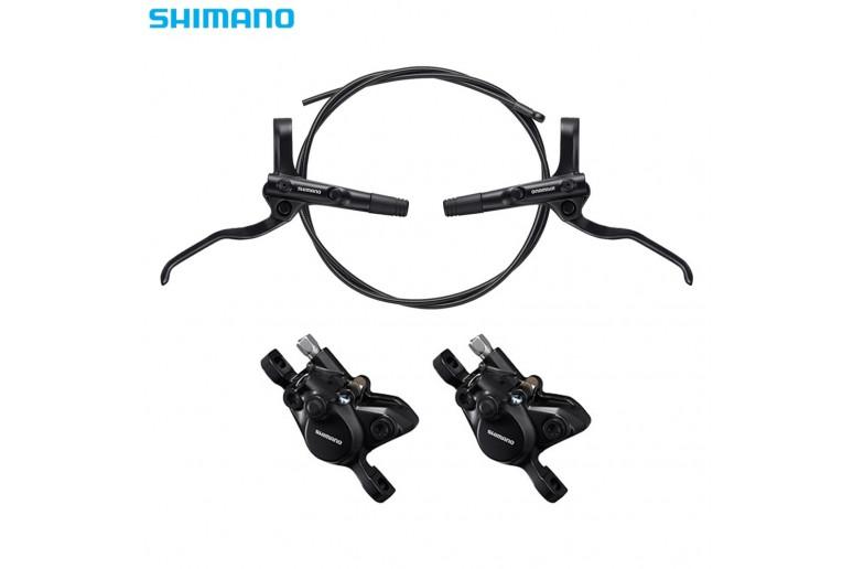 """Тормоз дисковый гидравл. 160/160 SHIMANO BR-MT200 F800/R1400 с ротором """" (ED)"""