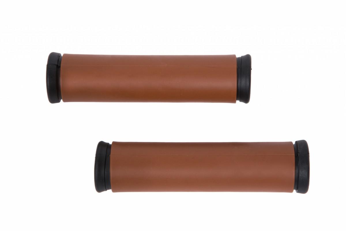 Фото Грипсы TPR L120mm / R120mm коричневый XH-118 с официального сайта OSKAR™
