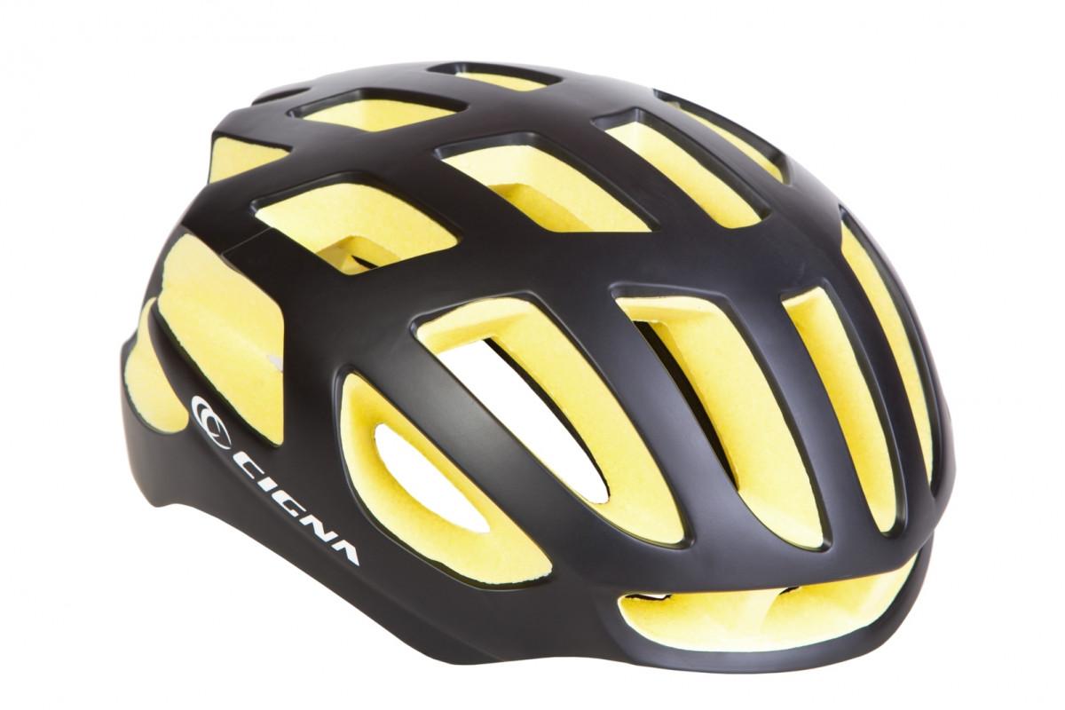 Фото Шлем велосипедный СIGNA TT-4 черно-желтый (черно-желтый) с официального сайта OSKAR™