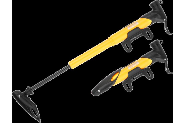 Насос мини GIYO GP-77 Pl AV/FV (80psi) T-ручка (черный)