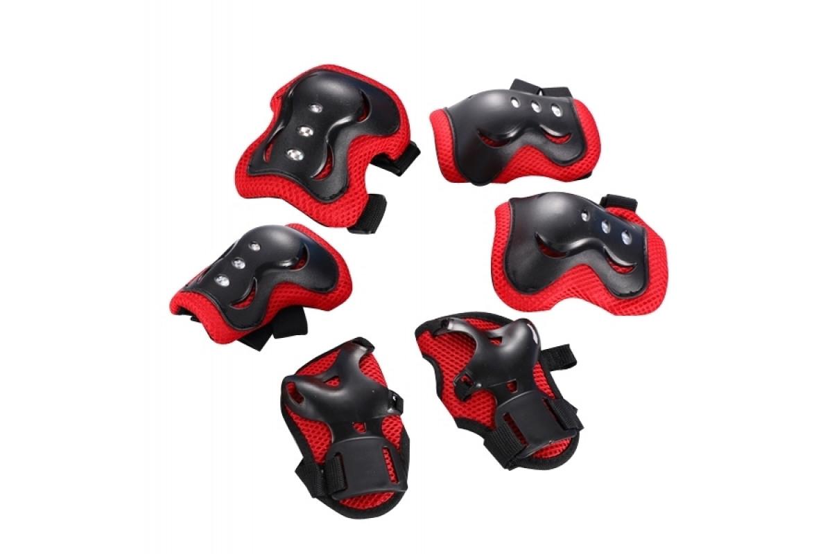 Фото Защита FSK M07 (Кисти, локти, колени) (черно-красный) с официального сайта OSKAR™