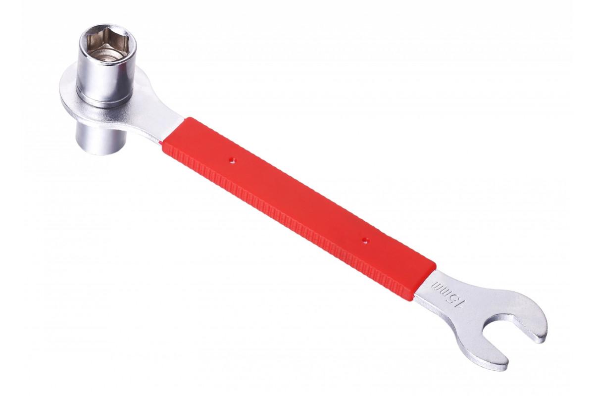 Фото Ключ д/педалей 15мм и гаек 14/15мм KEN TECH KL-9725H с официального сайта OSKAR™