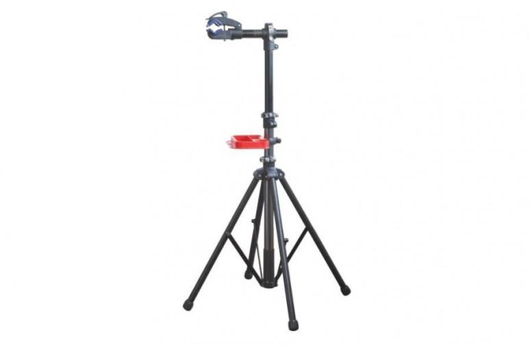 Стойка для ремонта и обслуживания велосипеда KL-BW02 4 лапы, захват с эксцентриком, лоток для инструмента