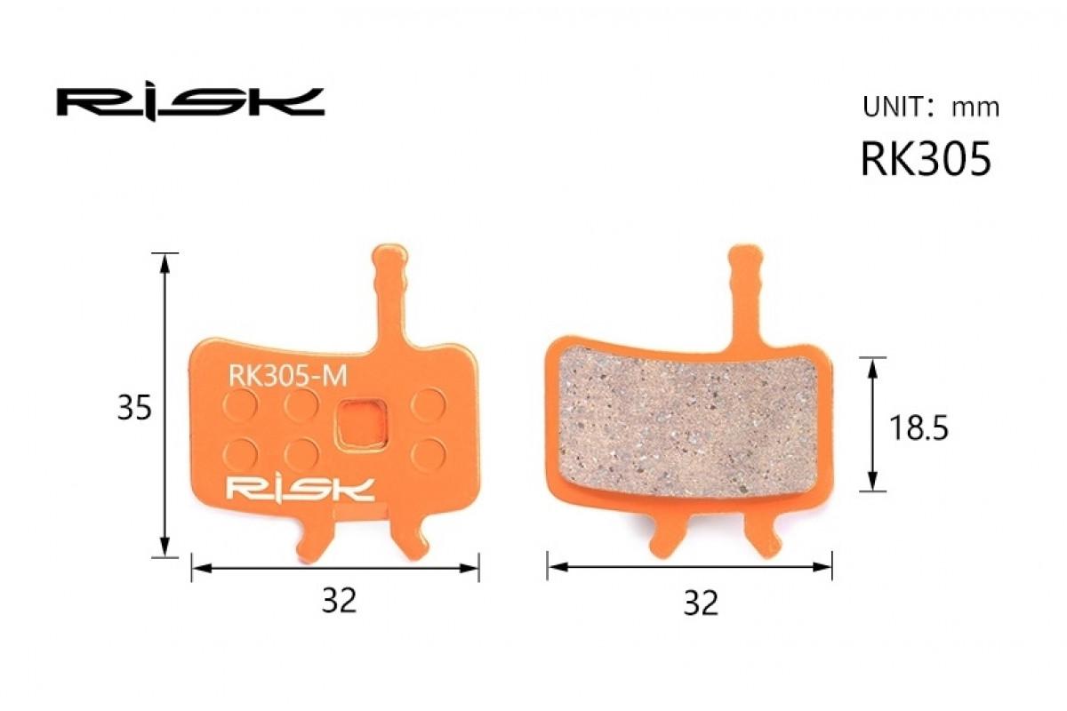 Фото Колодки тормозные полуметалл disc RISK RK305-S AVID BB7,Juicy3/5/7 с официального сайта OSKAR™