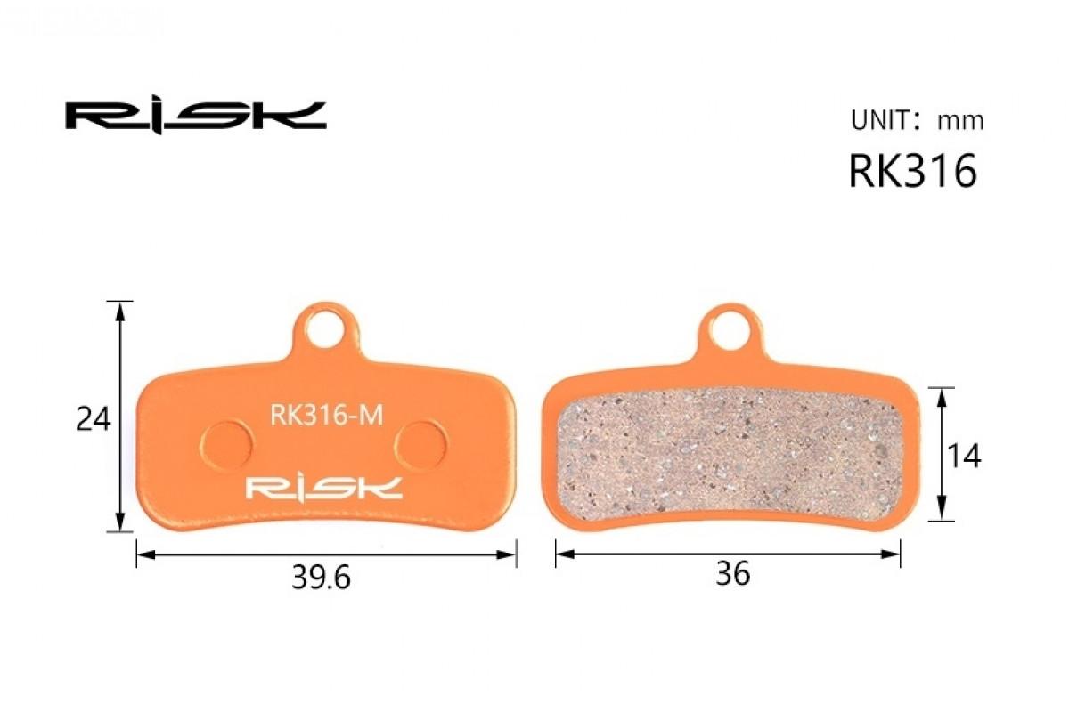 Фото Колодки тормозные полуметалл disc RISK RK316-S SAINT M810、M820、ZEE M640、TRP Quadiem с официального сайта OSKAR™