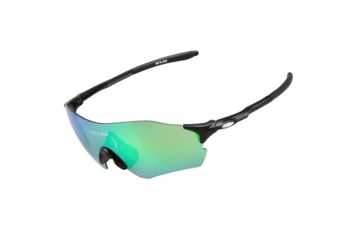 Фото Очки велосипедные с зеленой линзой GUB 5100 черный с официального сайта OSKAR™