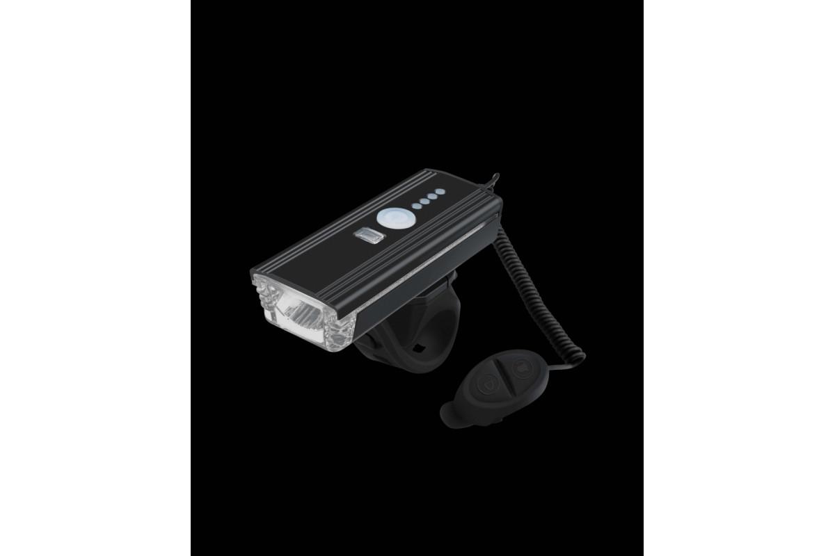 Фото Фонарь пер. с боковой подсветкой BC-FL1625 300лм питание Li-on 1200mAh с эл звонком USB Pl с официального сайта OSKAR™