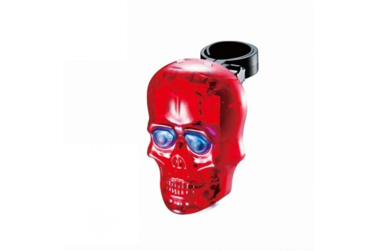 Фонарь габаритный задний BC-TL5354 (череп) с лазерной дорожкой LED, USB (красный)