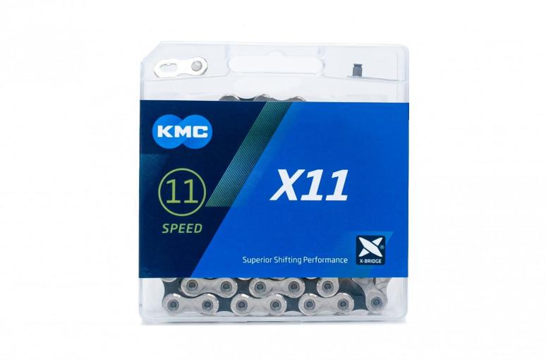 Цепь 11 ск. 118зв. silver/black KMC X11 с замком NEW BOX