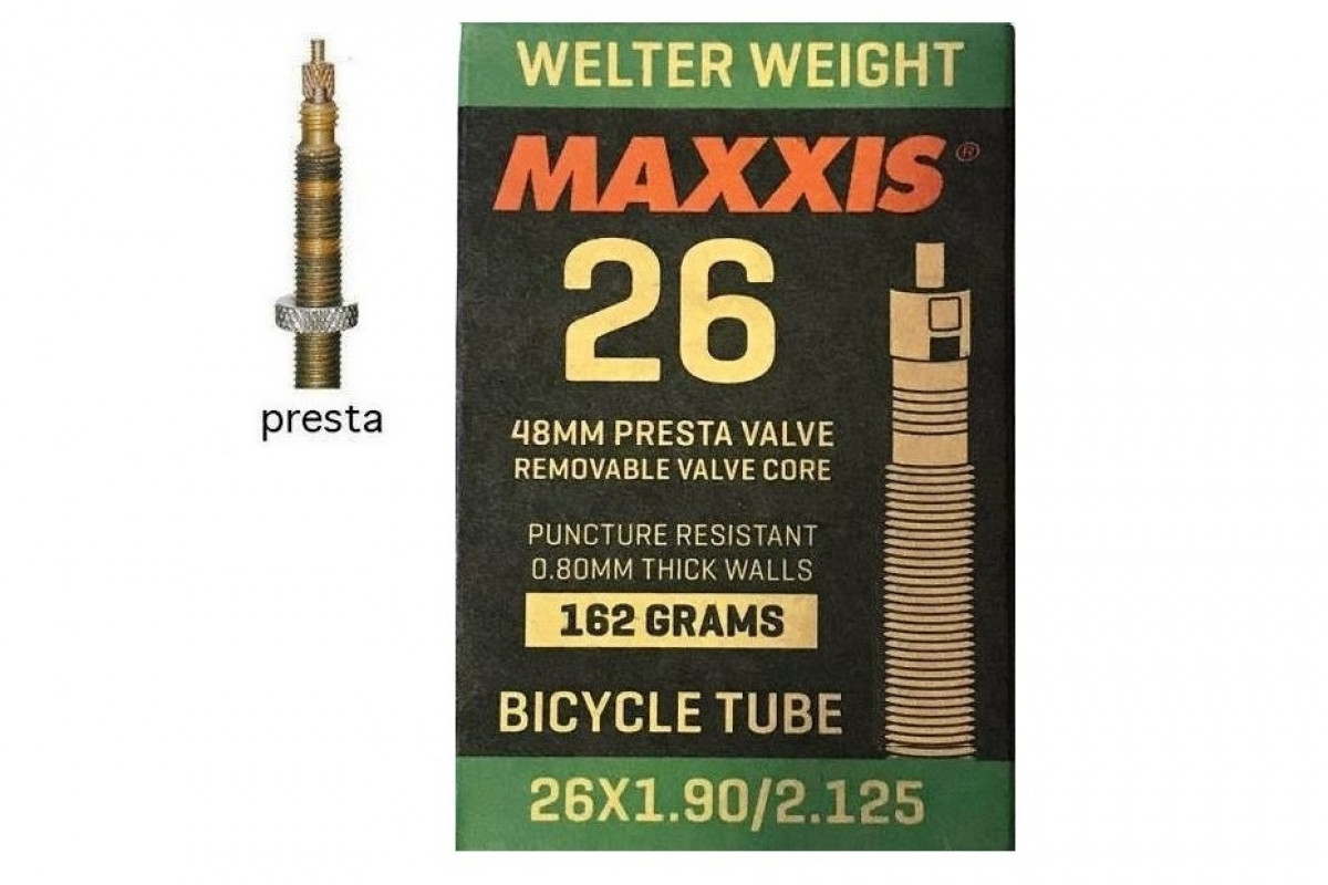 Фото Камера 26x1.90/2.125 FV (Presta) 48mm MAXXIS Welter Weight с официального сайта OSKAR™