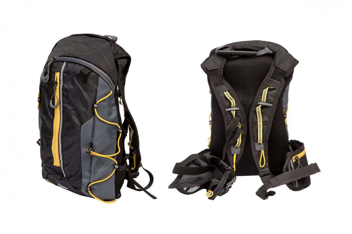 Фото Рюкзак QIJIAN BAGS B-300 44х26х9cm черно-серо-желтый с официального сайта OSKAR™