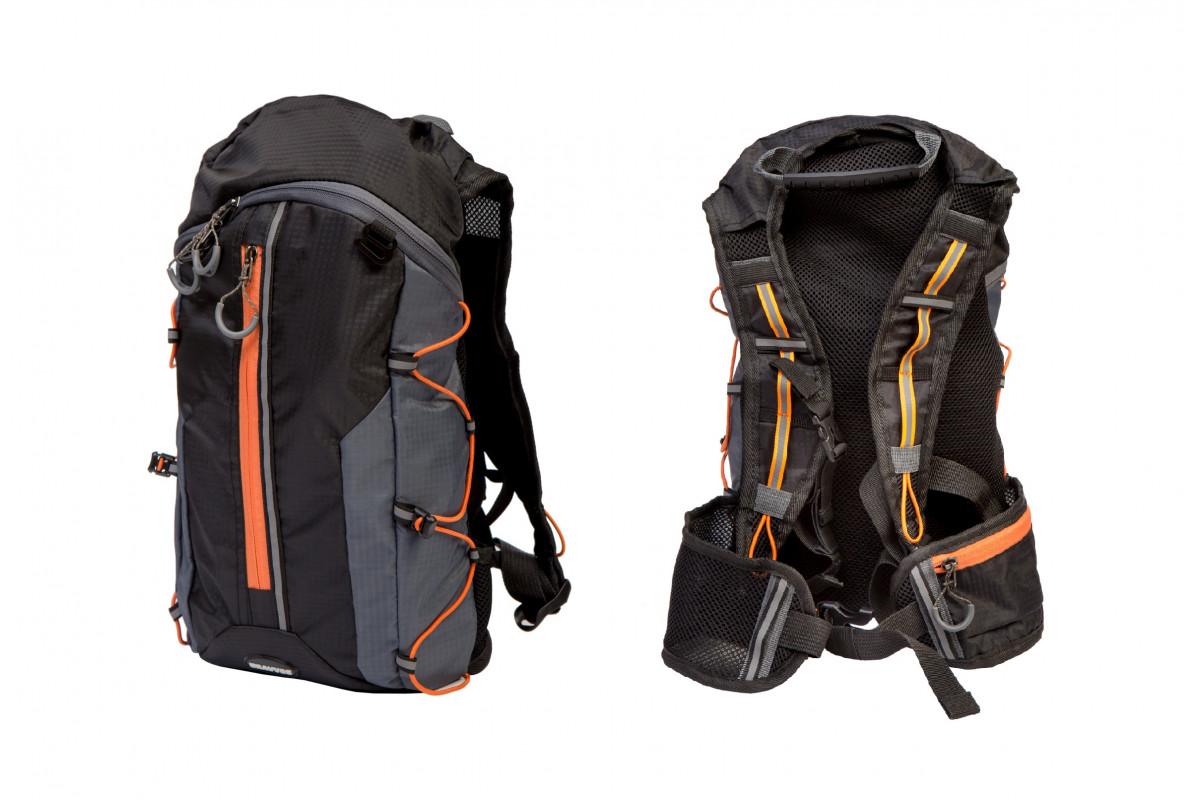 Фото Рюкзак QIJIAN BAGS B-300 44х26х9cm черно-серо-оранжевый с официального сайта OSKAR™