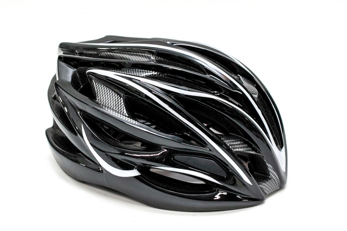 Фото Шлем велосипедный FSK AH404 чёрно-белый с официального сайта OSKAR™