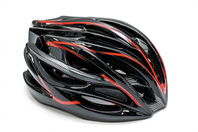 Шлем велосипедный FSK AH404 черно-красный
