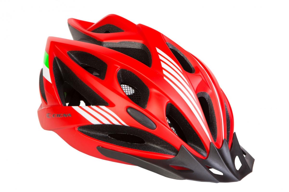 Фото Шлем велосипедный с козырьком СIGNA WT-036 красный (красный) с официального сайта OSKAR™