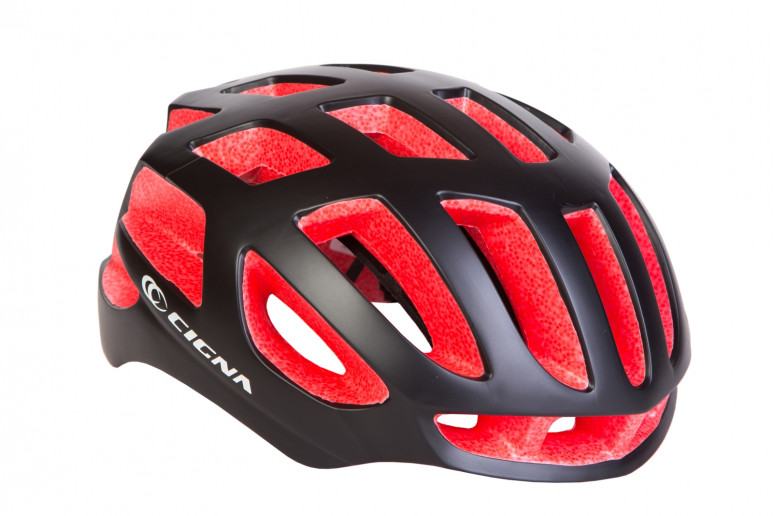 Шлем велосипедный СIGNA TT-4 чёрно-красный