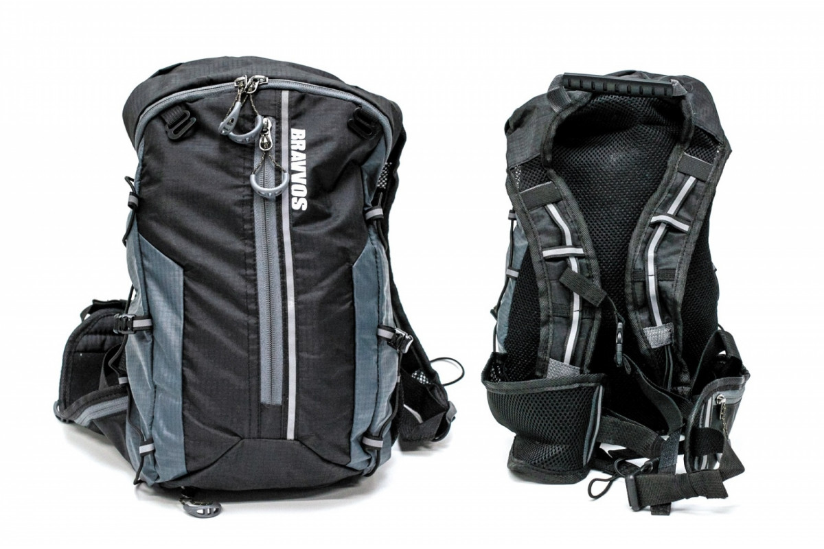 Фото Рюкзак QIJIAN BAGS B-300 44х26х9cm черно-серый с официального сайта OSKAR™