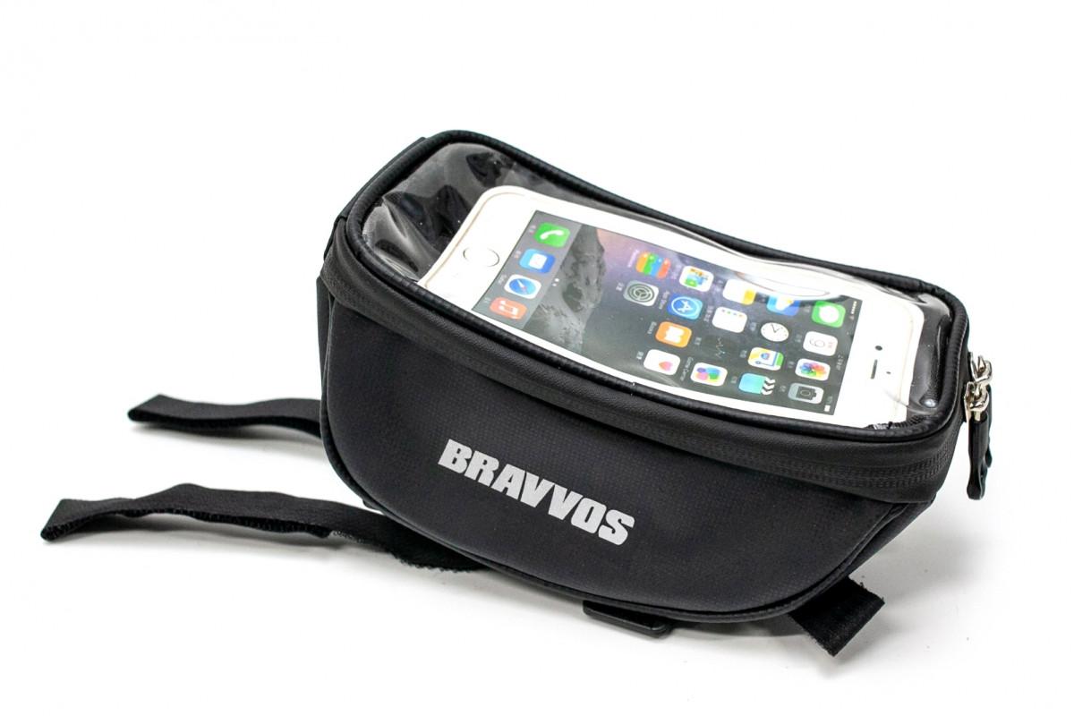 Фото Велосумка с оделением под смартфон черный BRAVVOS CT-002 с официального сайта OSKAR™