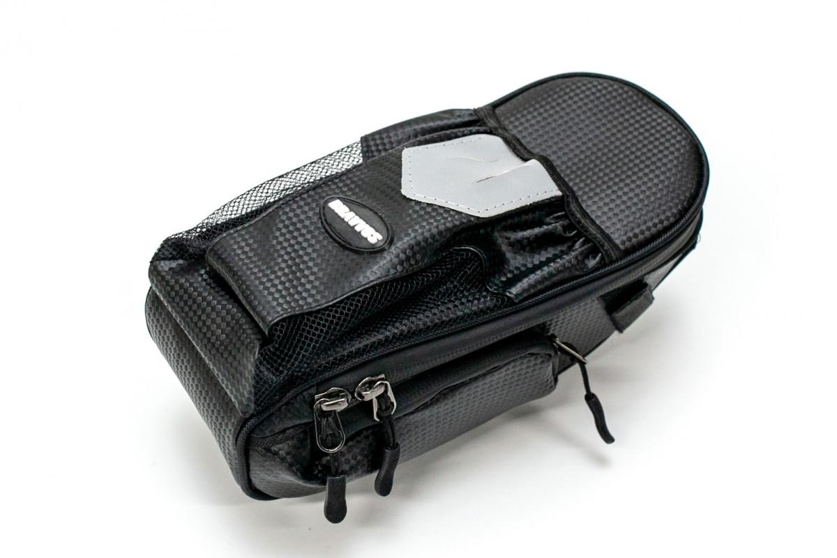 Фото Велосумка под седло с отделение под бутылку черный BRAVVOS AZ-400 с официального сайта OSKAR™
