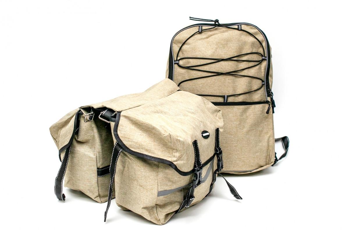 Фото Велобаул (сумка- штаны) 43x29x10cm песочный BRAVVOS F-091 с официального сайта OSKAR™