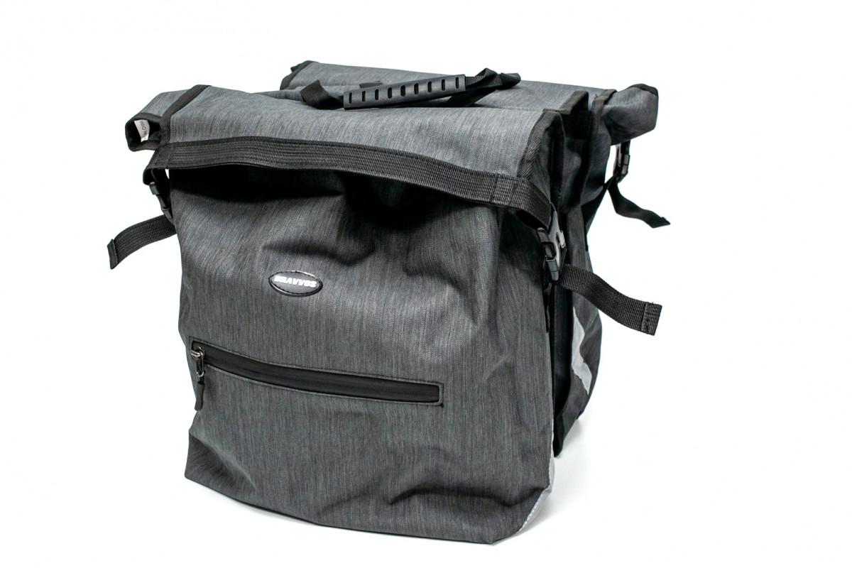 Фото Велосумка штаны, на багажник 35x30x13cm серый BRAVVOS F-088, водоотталк. материал с официального сайта OSKAR™