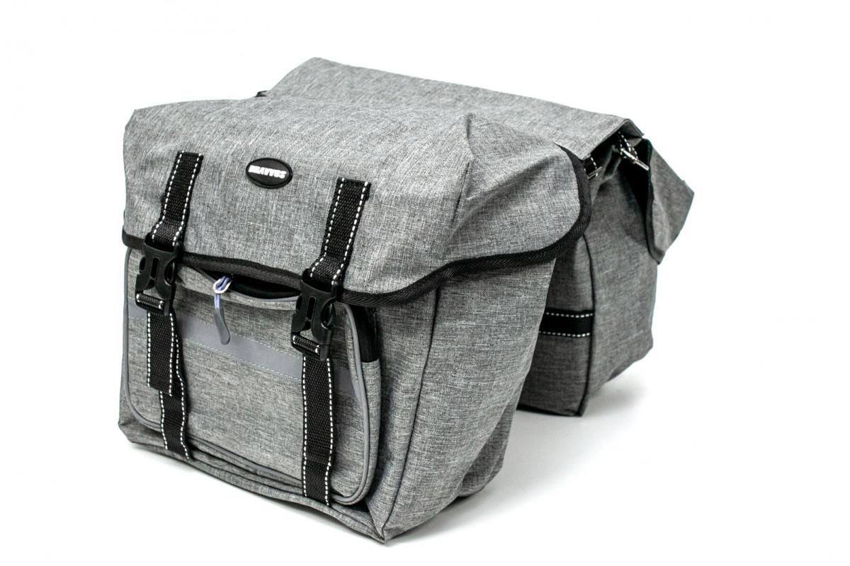 Фото Велосумка штаны, на багажник 35x28x14cm серый BRAVVOS F-091-2, водоотталк. материал с официального сайта OSKAR™
