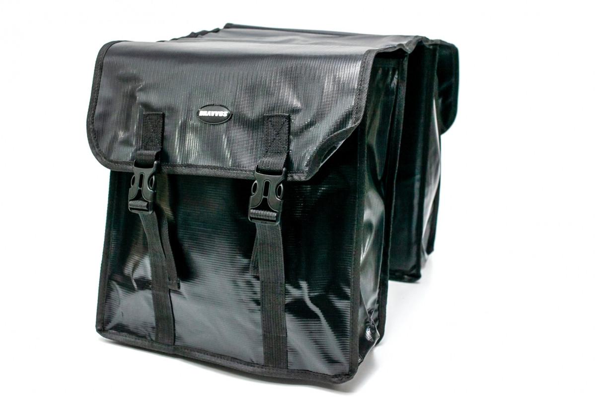 Фото Велосумка штаны, на багажник 31x14x33cm черный BRAVVOS F-089, водоотталк. материал с официального сайта OSKAR™