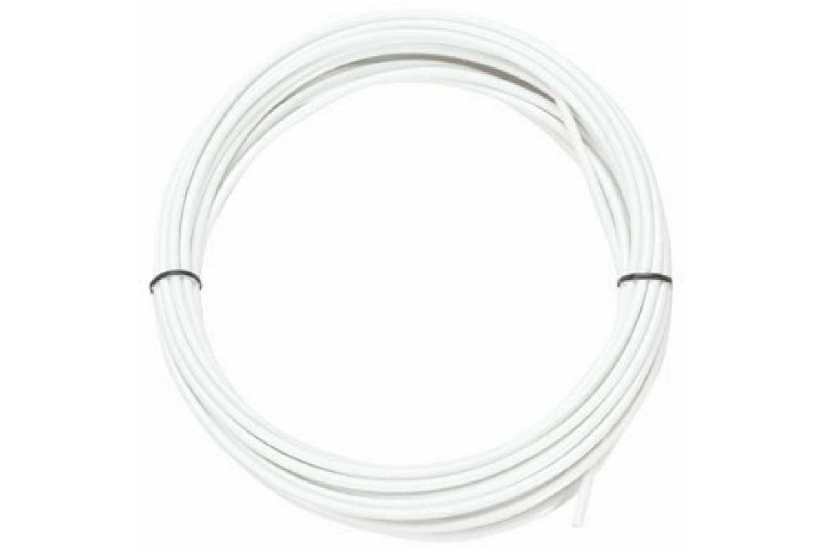 Фото Рубашка троса тормоза белый JAGWIRE (без лого) 5 мм бабина 50 м с официального сайта OSKAR™