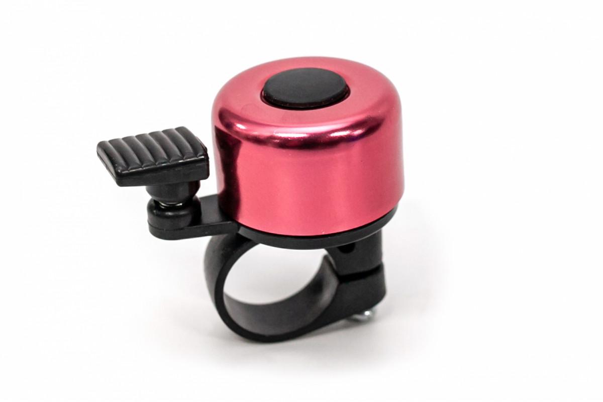 Фото Звонок велосипедный мини розовый BC-BB3201A с официального сайта OSKAR™
