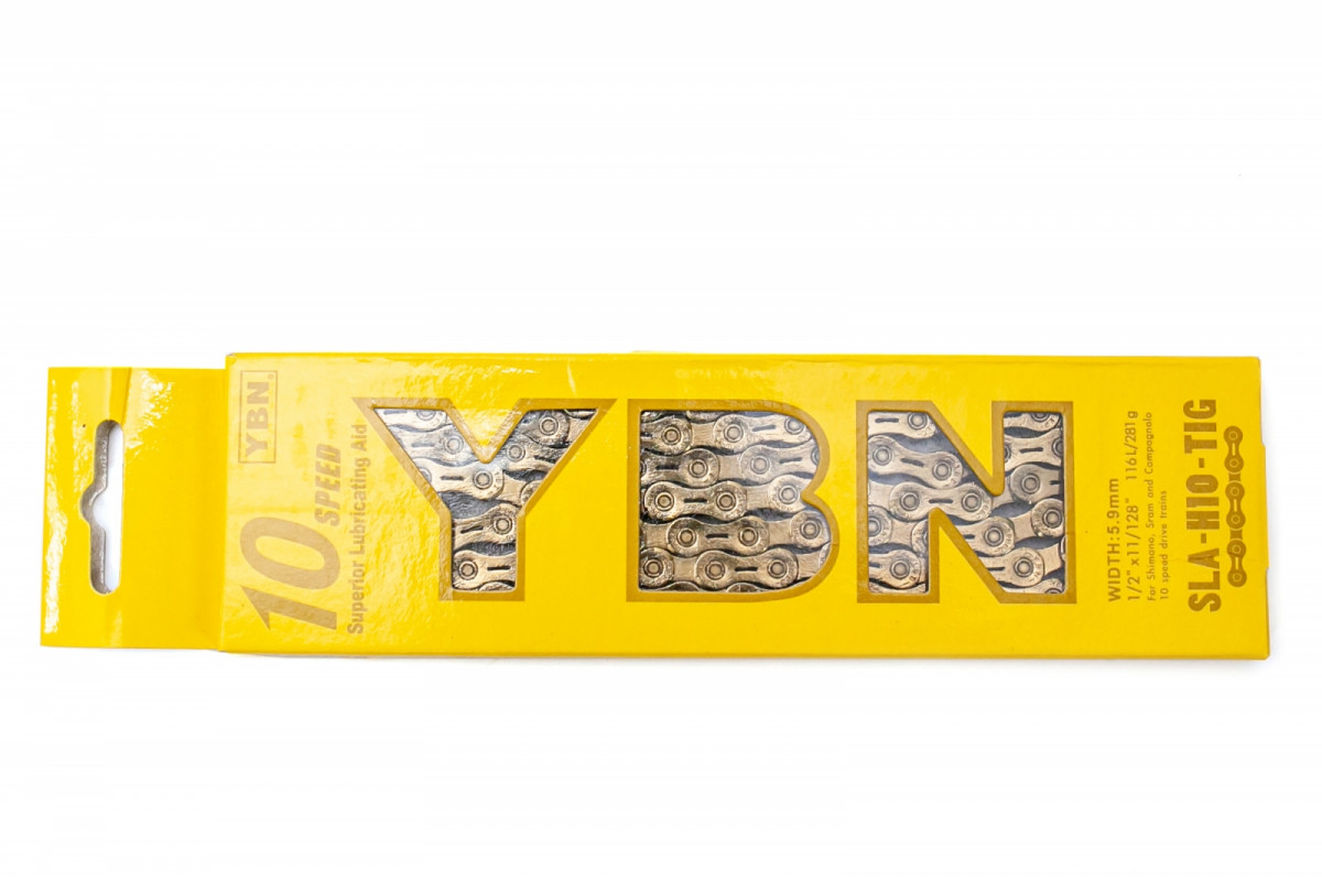 Фото Цепь 10ск. 116зв. Gold YBN SLA-H10 с замком с официального сайта OSKAR™