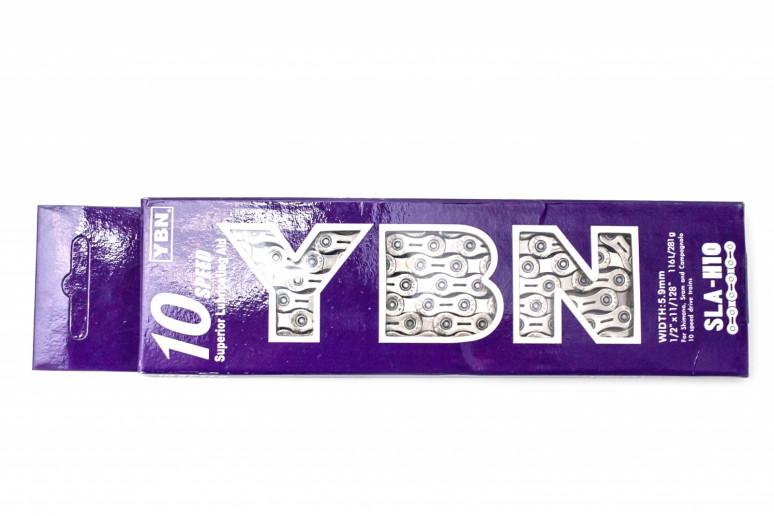 Цепь 10ск. 116зв. silver YBN SLA-H10 с замком