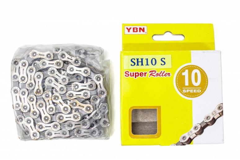 Цепь 10ск. 116зв. silver/gray YBN SH10 с замком