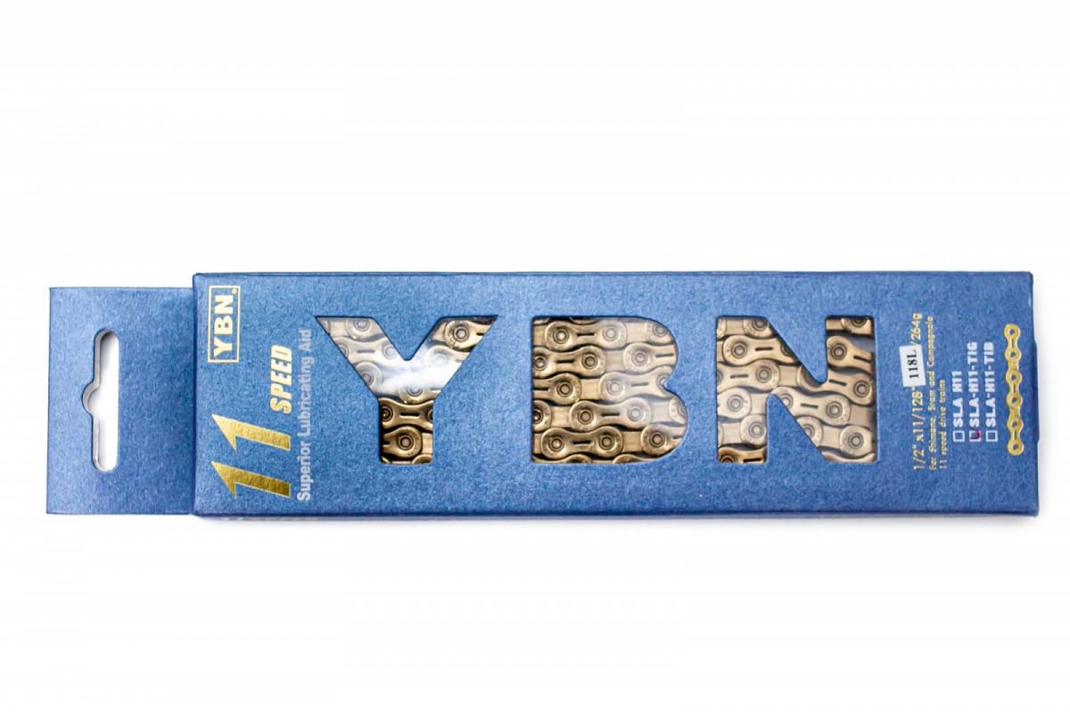 Фото Цепь 11 ск. 118зв. Gold YBN SLA-H11 с замком с официального сайта OSKAR™