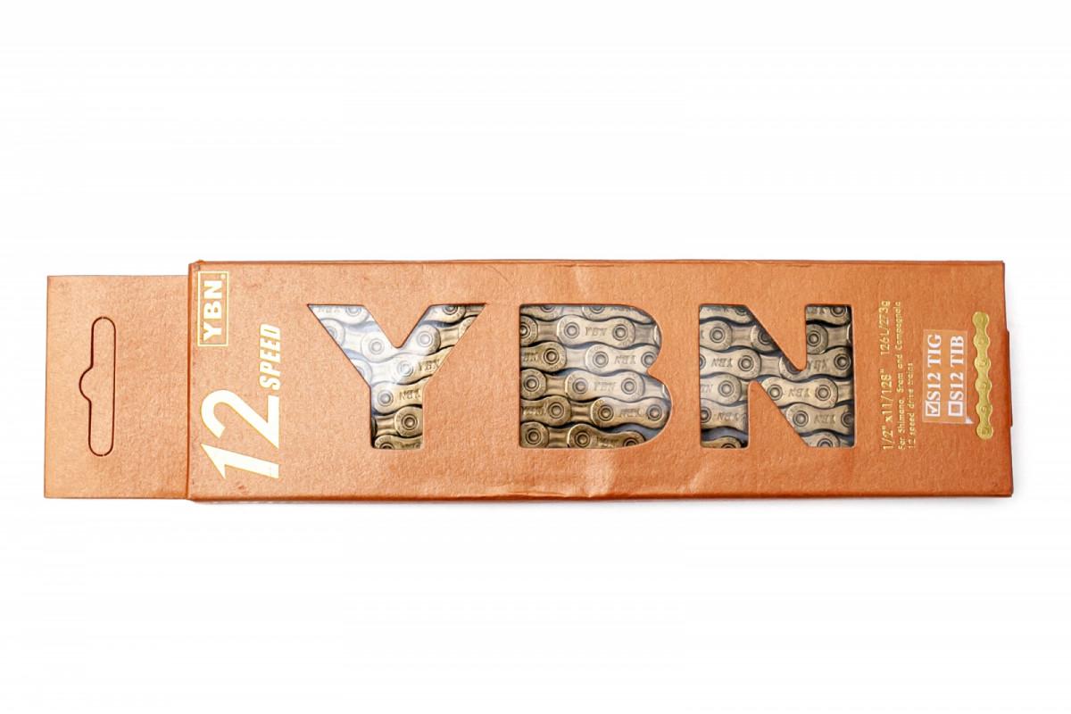 Фото Цепь 12 ск. 126зв. Gold YBN S12 с замком с официального сайта OSKAR™