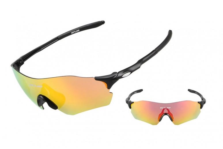 Очки велосипедные с красной линзой GUB 5100 черный